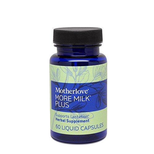 Motherlove More Milk Plus Herbal Breastfeeding Supplement Supports Lactation, 60 Liquid Capsules