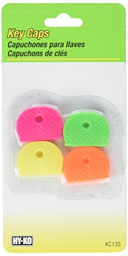 HY-KO PROD Office Storage Accessory 4 Pack Neon Key Caps - Hy Caps Key Ko