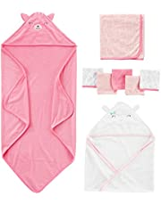 Simple Joys by Carter's Baby Girls' 8-Piece Towel and Washcloth Set