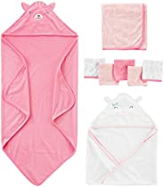Simple Joys by Carter's Baby Girls' 8-Piece Towel and Washc