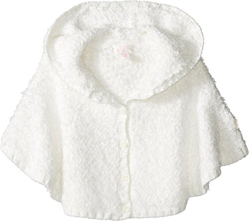Pumpkin Patch Kids Baby Girl's Fluffy Knit Poncho (Infant) French Vanilla Sweater (Poncho Baby Girl)