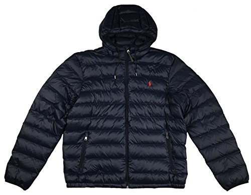 Polo Ralph Lauren Mens Full Zip Hooded Puffer Jacket (XXL, Aviator - Polo Vest Lauren Ralph