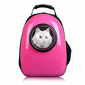 Innovative Traveler Bubble Pet Carrier Backpack Airline Approved for Dog Cat Puppies (Pink)