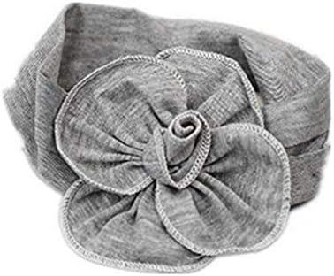 Grau Baby Mädchen Große Blume Stirnband Weich Baumwolle Säugling Haarband Kleinkind Kopfbedeckung Geburtstag Party Fotografieren Kopfschmuck von SamGreatWorld
