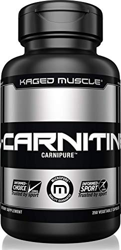 Kaged Muscle, Premium L-Carnitine 500 mg, Stimulant Free for Men & Women, Supports Recovery and reduction of post-workout markers of muscle stress and soreness, Carnitine, 250 Veggie Capsules