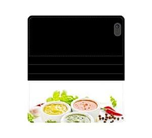 Afilado ingredientes caja de la carpeta de cuero protector con salsas con ranuras para tarjetas y bolsillo para billetes iPhone 4 4S 5 5S 6 6S/Samsung S3 S4 S5