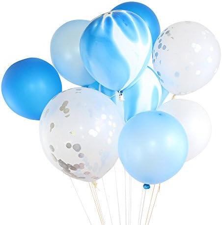 "Eldori 20点セット バルーン 結婚式 バレンタイン 飾り 誕生日 パーティー 飾り付け 吹雪入れ風船 セット おしゃれ ピンクゴールド フォトプロップス プロポーズ 記念日 お祝い 告白 バレンタイン応援 サプライズ 装飾 安い 飾りセット 吹雪入れ風船 12"" Gold Foil Balloon Set Helium Confetti Birthday Wedding Party Love Decor (B)"