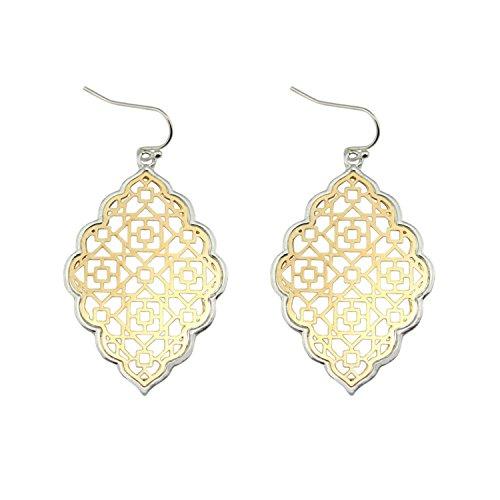 Earings Women Fashion Earrings Women Large Geometric Dangle Earrings Jewelry E3013 Silver - Tiffany And Co Reviews