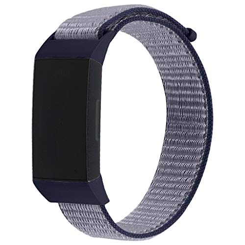 2019 Great Best Gift !!! Cathy Clara Large Replacement Soft Nylon Sport Loop Wrist Band Strap for Fitbit Charge 3,Wristband Closure Band Straps Accessories Replacement Bands for Fitbit Charge ()