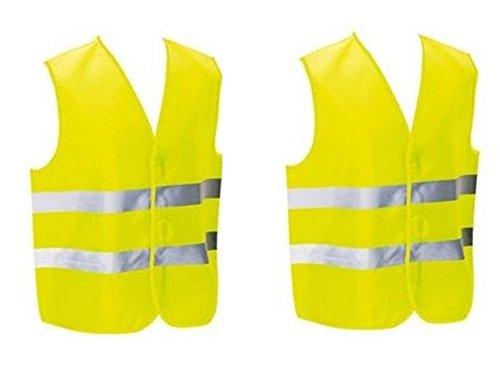 2 Gilets de sécurité pour piétons, cycliste, motocycliste ou à placer dans la voiture. Homologué EN471. Grande taille unique motocycliste ou à placer dans la voiture. Homologué EN471. Grande taille unique