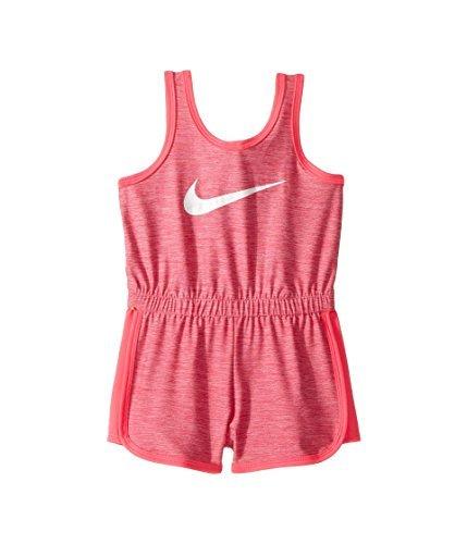 NIKE Little Girls' Dri-Fit Sport Essentials Romper (Hyper Pink (16C177-A96)/Hyper Pink/White, 24 Months)