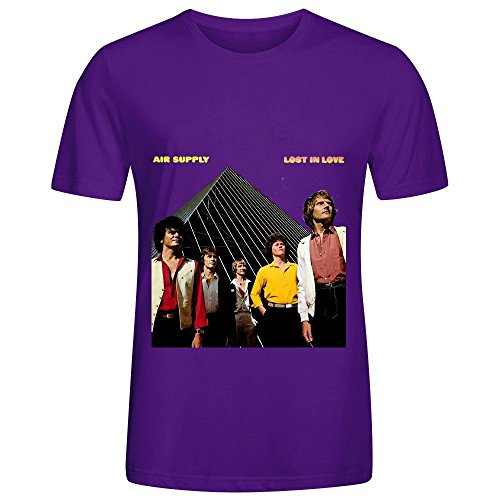 Air Supply Lost In Love Soundtrack Men O Neck Printed T Shirts Purple