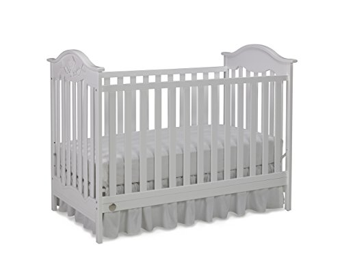 Fisher-Price Charlotte Rose 3-in-1 Convertible Crib, Snow White