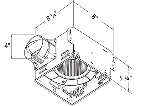 41aNBECGIML._SX450_ delta breezgreenbuilder gbr50l 50 cfm exhaust bath fan with light,Bathroom Lights And Wiring Diagram For Vent