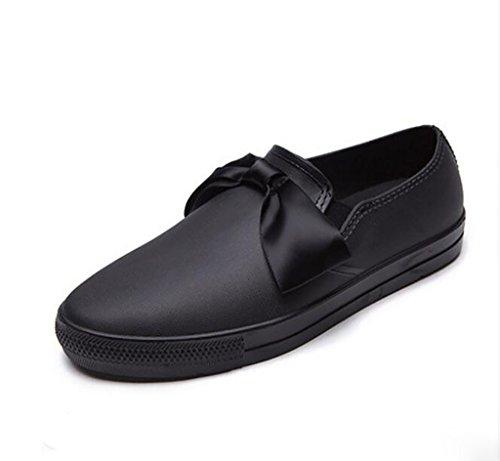 PWQU Waterproof Boots, Casual rain Boots, Non-Slip rain Boots, Ladies Waterproof Low Boots, Butterfly Water Shoes Anti-Slip rain Boots A