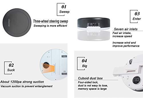 Docakaicn Robot de Barrido Que Carga en casa el Aspirador automático Lleno Inteligente Completo de la aspiración de la succión de la inducción Mini ...