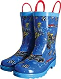 Smooth MX Superstars Youth Rain Boots, Primary Color: Blue, Size: 13, Gender: Boys, Size Segment: Youth 3001-013