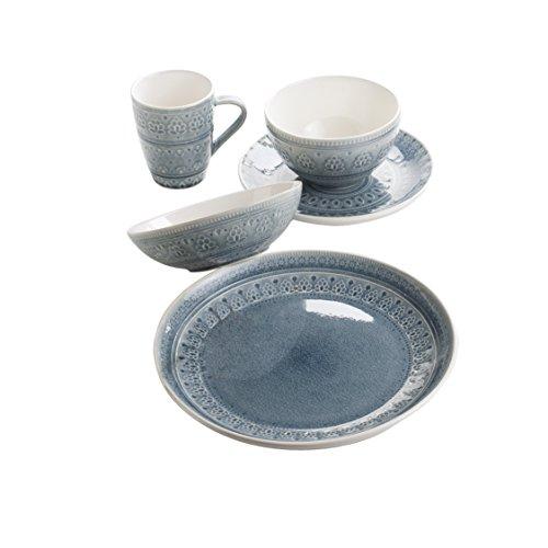 Euro Ceramica Fez Collection 20 Piece Ceramic Reactive Crack