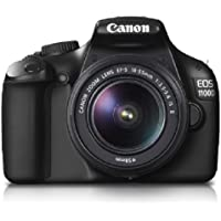 Canon EOS 1100D 12.2MP Digital SLR Camera (Black) with EF-S 18-55 IS + EF-S 55-250 IS Twin Lens Kit, SD Card and Camera Bag