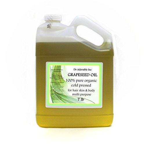 7 Lb /One Gallon Organic Grapeseed Oil