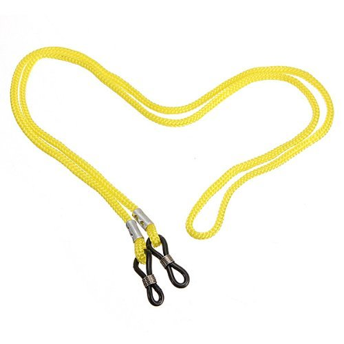 Wayfarer Gafas el cordón Rojo piel con de Kiss Sol lente de teléfono el amarillo para negro de logotipo Marco del y cuello cebra E4wfqw