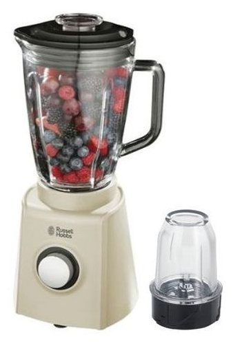 russell hobbs 18993 20 creations glass jug blender 1 5l 600w cream inc grinder ebay. Black Bedroom Furniture Sets. Home Design Ideas
