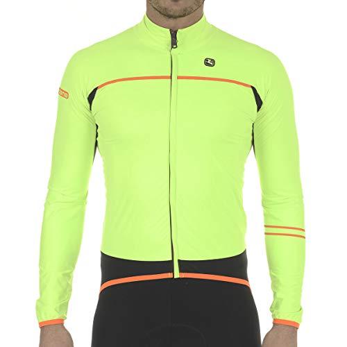 Giordana 2018/19 Men's Aqua Vento 100 Cycling Jacket - GICW18-JCKT-A100 (Fluo Yellow/Black - L)