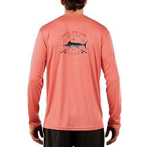 - SAND.SALT.SURF.SUN. Sailing Marlin Rods Florida Men's UPF 50+ Long Sleeve T-Shirt X-Large Salmon
