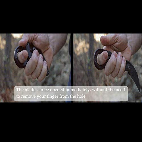 Promithi Outdoor Folding Knife Multi-Function Morphing Knife Claw Karambit Knife Stainless Steel Knife by Promithi (Image #1)