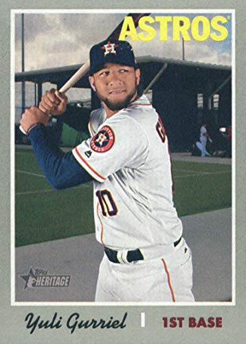 2019 Topps Heritage #382 Yuli Gurriel Houston Astros Baseball Card