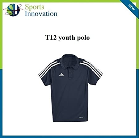adidas T12 Juventud Clima Polo Navy, Azul Marino: Amazon.es ...