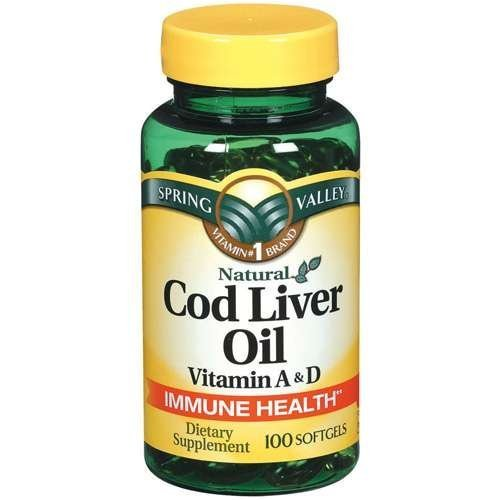 (Spring Valley - Cod Liver Oil with Vitamin A & D 100 softgels)