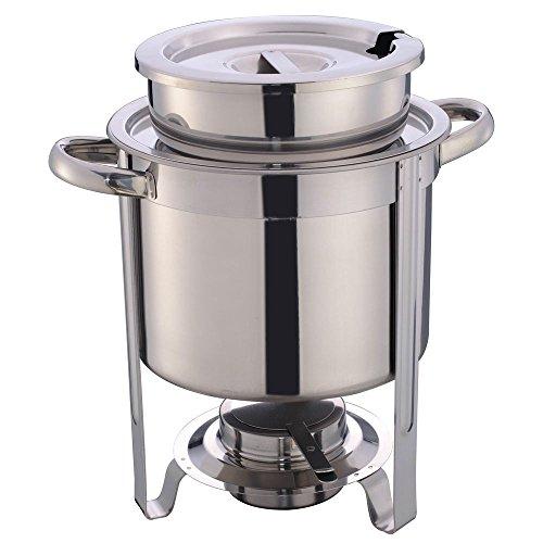 HUBERT Soup Server 4 1/5 Quart Stainless Steel - 12 3/8 L x 9 2/8 W x 13