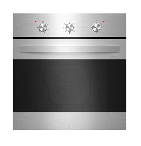 Empava KQP65B-14-220V Tempered Glass Electric Built-In Single Wall Oven, Stainless Steel (Wall Oven Gas 24 Inch)