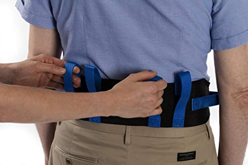"NYOrtho Transfer Gait Belt with 6 Handles - Quick Release Buckle for Elderly and Patient Care | Adjustable Size 28"" to 55"""