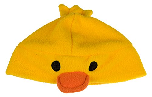 [Novelty Yellow Duck Hat by Clever Creations | One Size Fits Most Kids | Comfortable Fleece | Cute Costume Accessory for Kids] (Cute Costumes To Make Yourself)