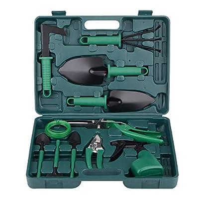 xderlin Garden Tools Set, Gardening Gifts Garden Tool Set with Storage case with Garden Trowel Pruners and More -Garden Gifts for Men & Women