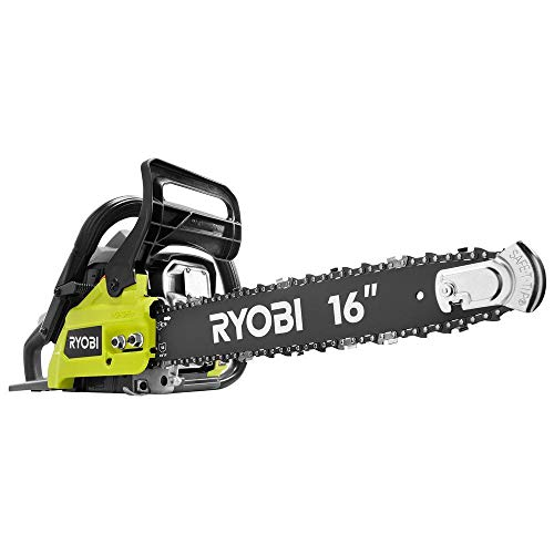 Ryobi 16 inch 37cc 2-Cycle Gas Chainsaw with Anti-Vibration Handle and Heavy-Duty Carrying Case