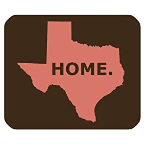 Texas Map Home Simply Style Personalized Rectangle Mouse Pad by ruishername