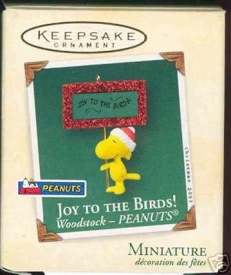 Hallmark Red Box Ornament Woodstock With Skiis Peanuts
