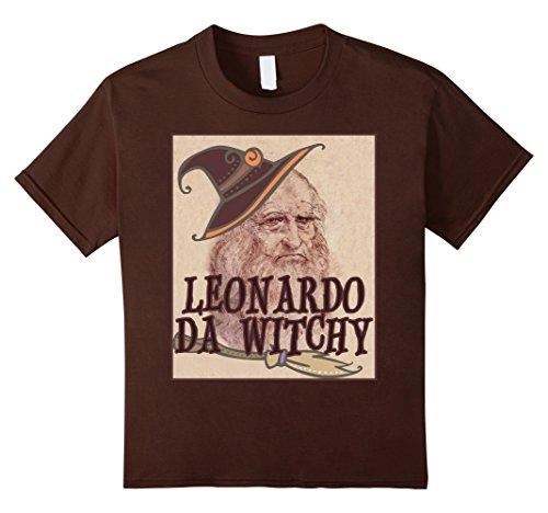Da Vinci Et Costumes (Kids Leonardo Da Vinci Funny Da Witchy Halloween Art T-Shirt 12 Brown)