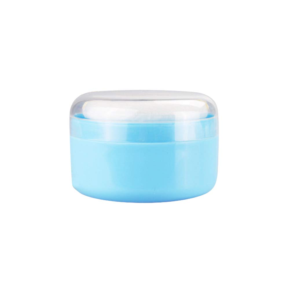 SUPVOX Talcum Powder Puff Box Empty Body Powder Container with Puffs and Sifter for Home and Travel