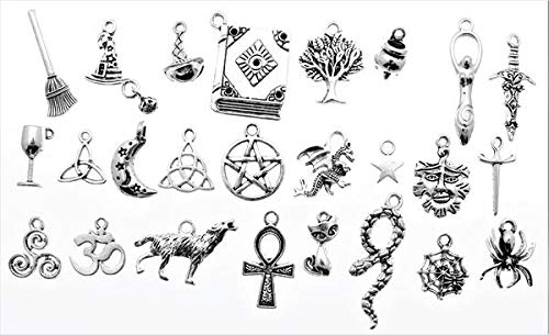 AVBeads Pagan/Witch Metal Charms 1253 (50