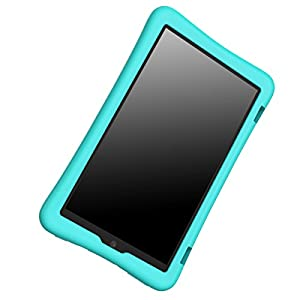 Bear Motion Silicone Case for Fire HD 8 2017 - Anti Slip Shockproof Light Weight Kids Friendly Protective Case for All-New Fire HD 8 Tablet with Alexa (7th Gen 2017 Model) (Green)