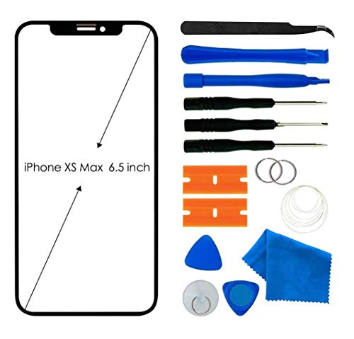 Original iPhone Xs Max Screen Replacement, Front Outer Lens Glass Screen Replacement Repair Kit for Apple iPhone Xs Max Series
