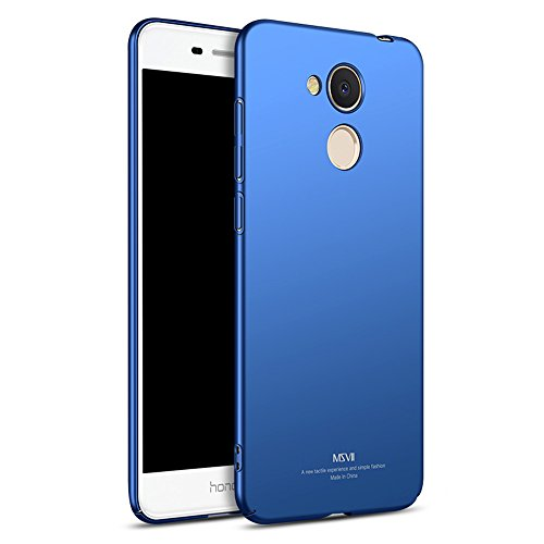 Huawei Honor V9 Play Hülle, MSVII® Sehr Dünn Hülle Schutzhülle Case Und Displayschutzfolie für Huawei Honor V9 Play - Blau JY00374