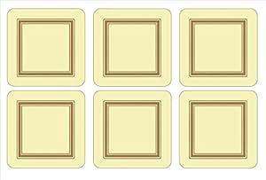 Pimpernel Classic Cream Coasters - Set of 6