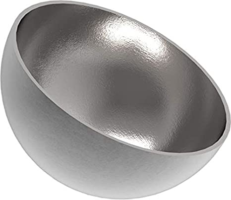 Wandst/ärke 2,0mm ungeschliffen Halbhohlkugel /ø 200mm