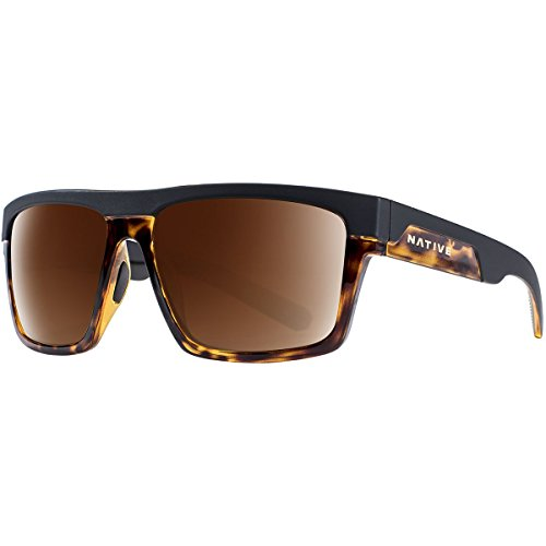Native Eyewear El Jefe Sunglass, Matte Black/Maple Tort, Brown
