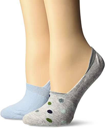 Keds Women's 2 Pack Lurex Print Sneaker Liner Socks, Gray Heather Assorted, (Lurex Liner)
